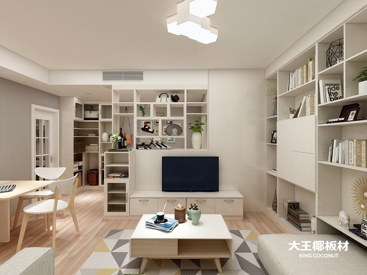 即便把电视放在客厅中心,旁边的书架也能瞬间吸走所有的注意力